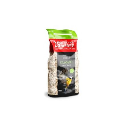 Tom Chambers Classic Seed Blend 3kg + 25% EXTRA FREE